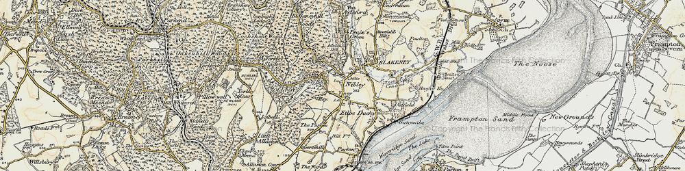 Old map of Blakeney in 1899-1900