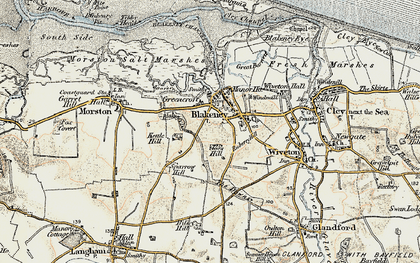 Old map of Tibby Head in 1901-1902