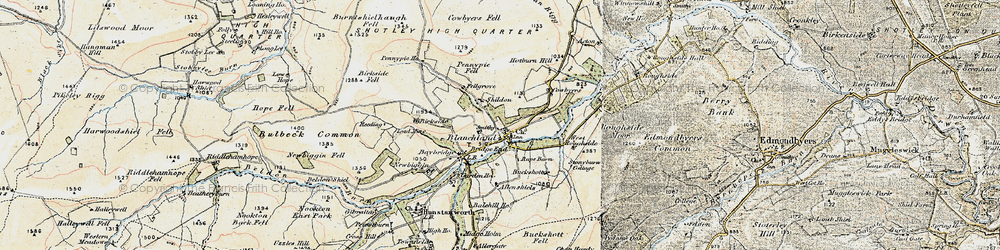 Old map of West Ruffside in 1901-1904