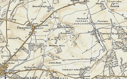 Old map of Blandford Camp in 1897-1909