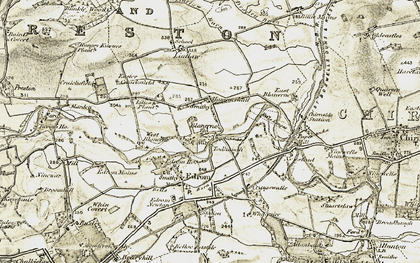 Old map of Todheugh in 1901-1904