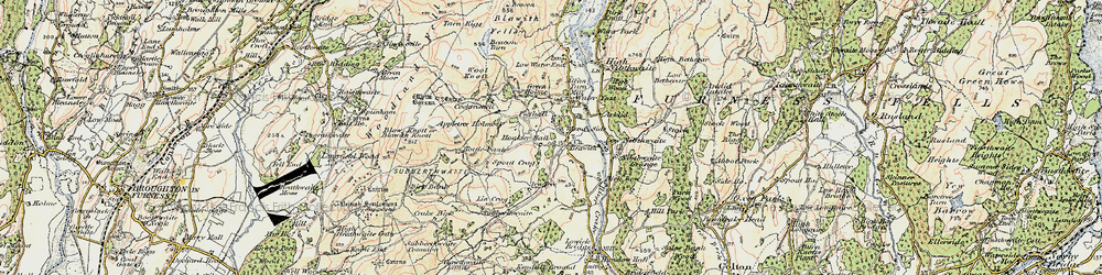 Old map of Appletree Holme in 1903-1904