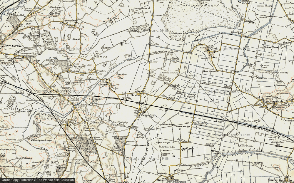Old Map of Blaxton, 1903 in 1903