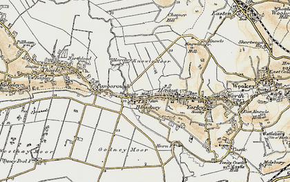 Old map of Westbury Moor in 1898-1900