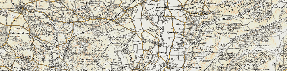 Old map of Whitefield Bottom in 1897-1909