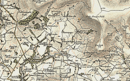 Old map of Bleasdale in 1903-1904
