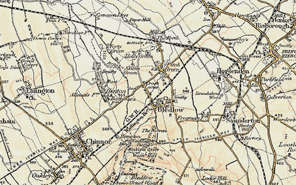Old map of Bledlow in 1897-1898