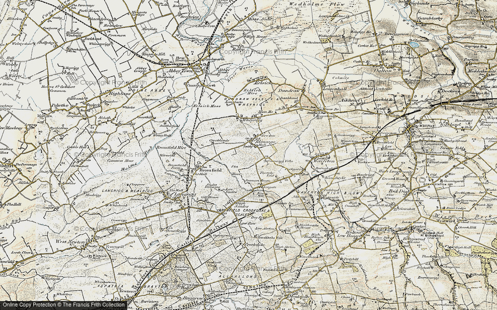 Old Map of Historic Map covering Leegate Ho in 1901-1904