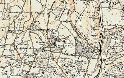 Old map of Blendworth in 1897-1899