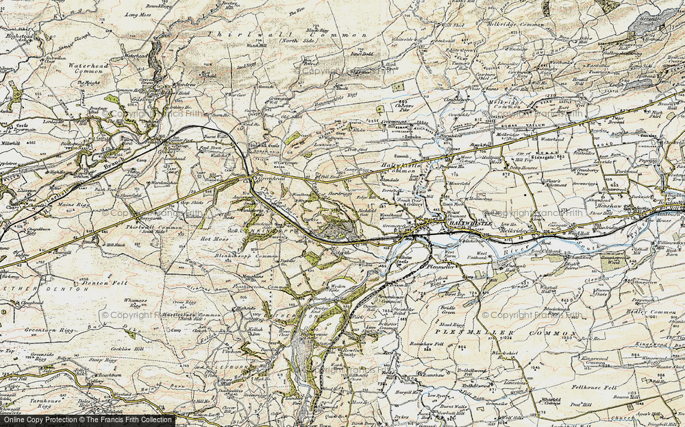 Old Map of Historic Map covering Woodhead in 1901-1904