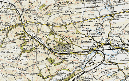 Old map of Tipalt Burn in 1901-1904