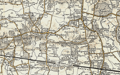 Old map of Wychcroft Ho in 1898-1902