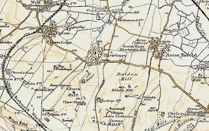Old map of Blewbury in 1897-1900