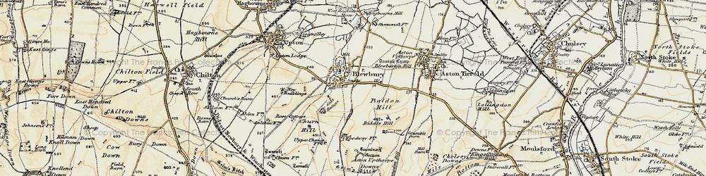 Old map of Blewbury in 1897-1900
