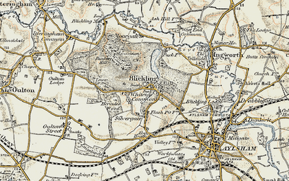 Old map of Blickling in 1901-1902