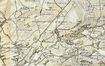 Old map of Laol Moota in 1901-1904