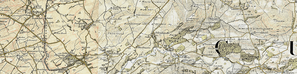 Old map of Williamsgate in 1901-1904