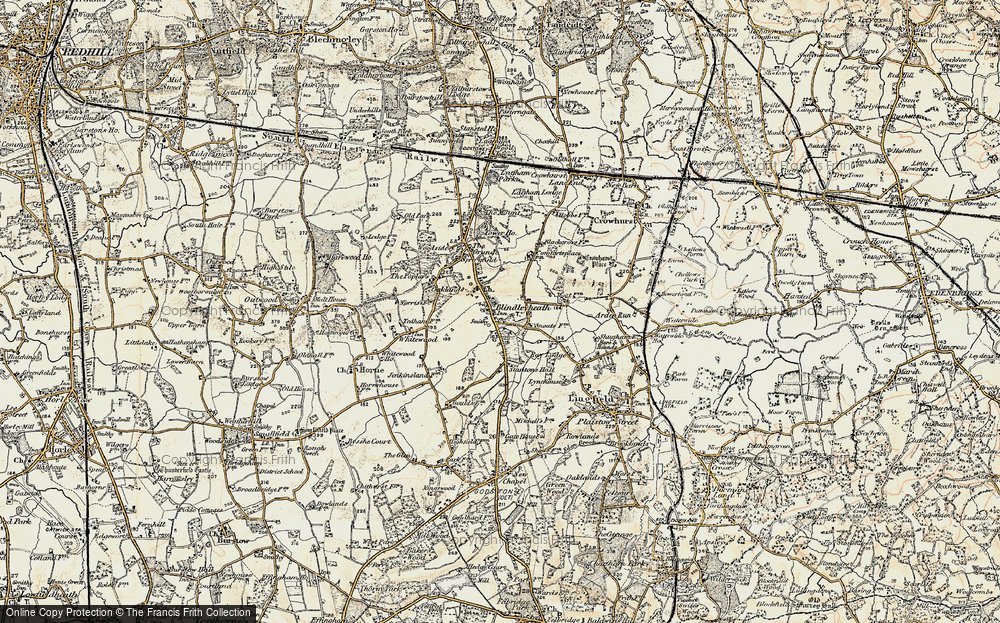 Old Map of Blindley Heath, 1898-1902 in 1898-1902