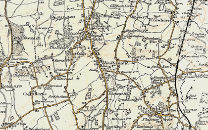 Old map of Blindley Heath in 1898-1902