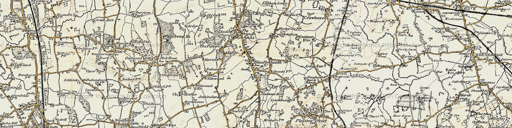 Old map of Ardenrun in 1898-1902