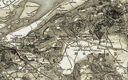 Old map of Bankside in 1906-1908