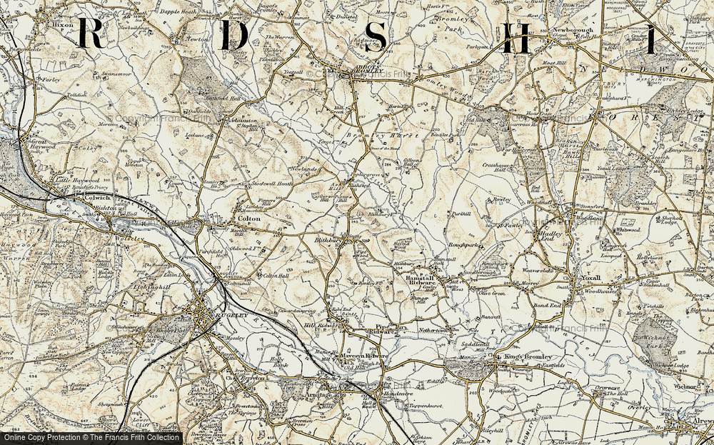 Old Map of Historic Map covering Ash Hill in 1902