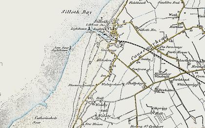 Old map of Lees Scar in 1901-1904