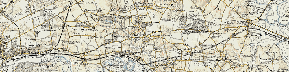 Old map of Witton Br in 1901-1902