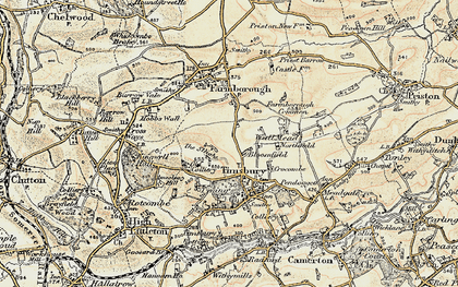 Old map of Bloomfield in 1899