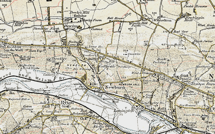 Old map of Blucher in 1901-1903