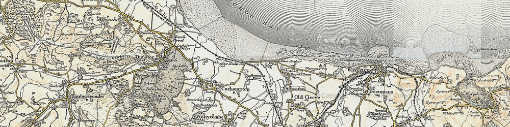 Old map of Blue Anchor in 1898-1900