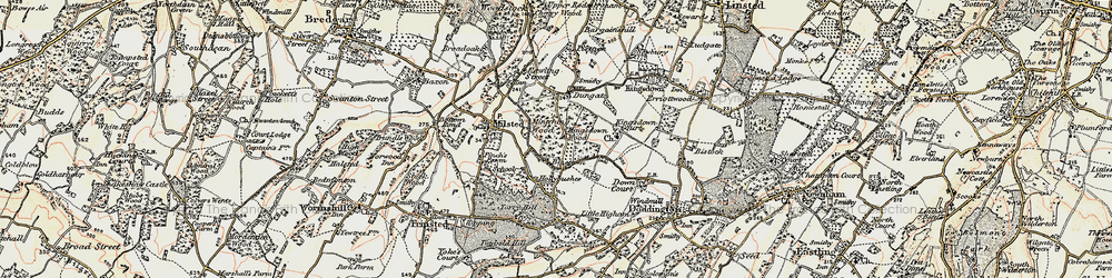 Old map of Bluetown in 1897-1898