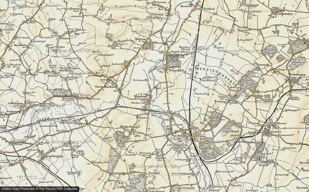 Old Map of Blunham, 1898-1901 in 1898-1901