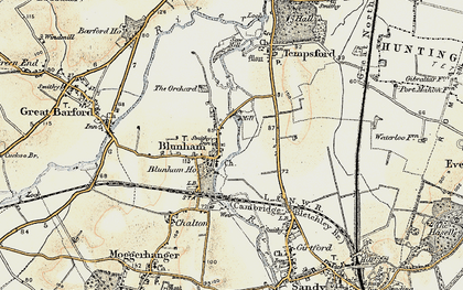 Old map of Blunham in 1898-1901