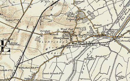 Old map of Bluntisham in 1901