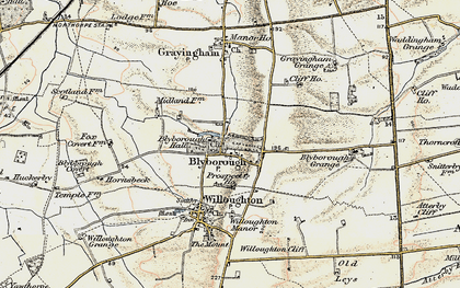 Old map of Blyborough in 1903-1908