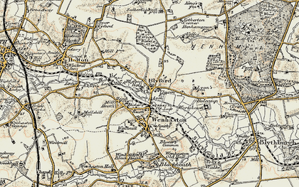 Old map of Blyford in 1901-1902