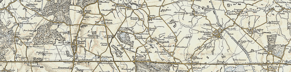Old map of White Sitch in 1902