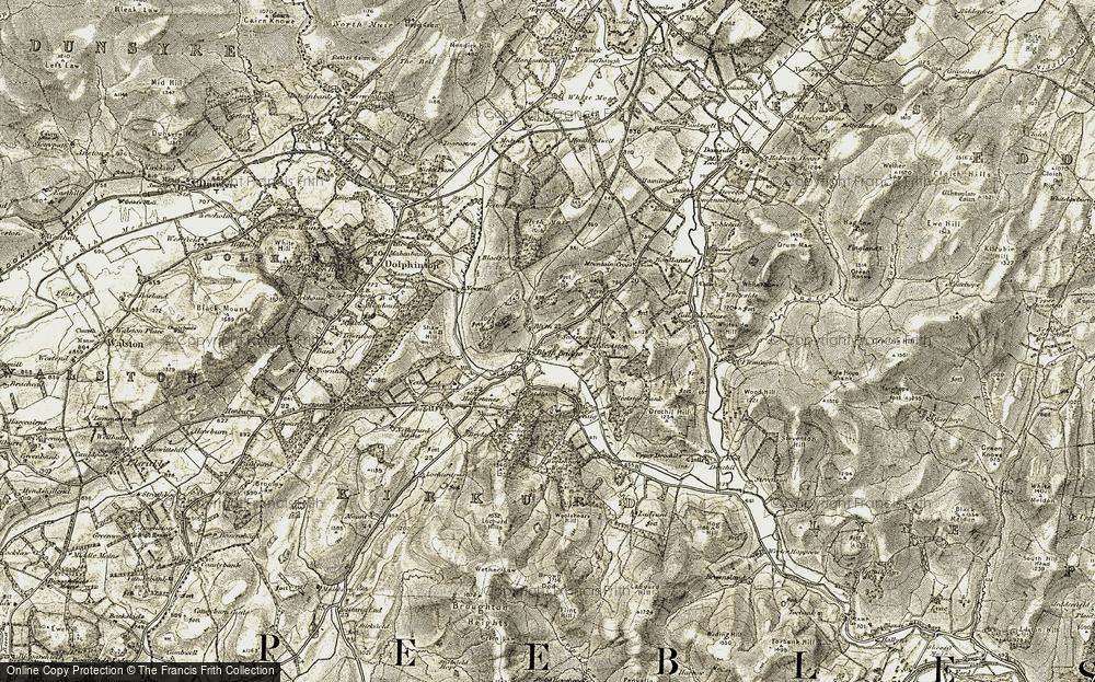 Old Map of Blyth Bridge, 1903-1904 in 1903-1904