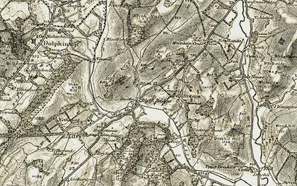 Old map of Blyth Bridge in 1903-1904