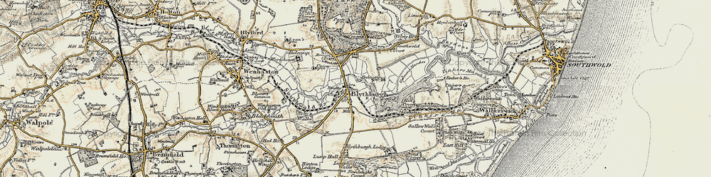 Old map of Westwood Lodge in 1901-1902