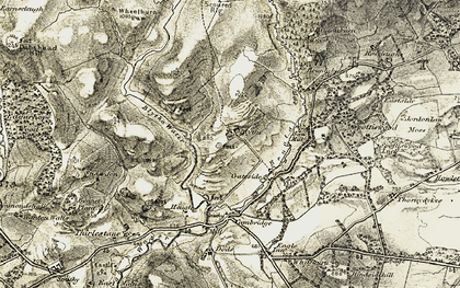 Old map of Wheel Burn in 1903-1904