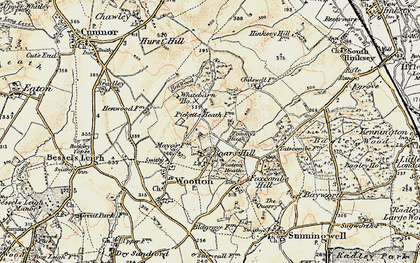 Old map of Youlbury Wood in 1897-1899