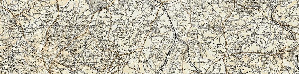 Old map of Aldwick Grange in 1898