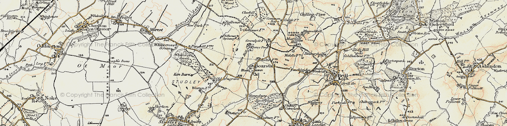 Old map of Whitecross Green Wood in 1898-1899