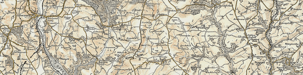 Old map of Winnick in 1900