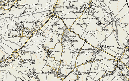 Old map of Boddington in 1898-1900