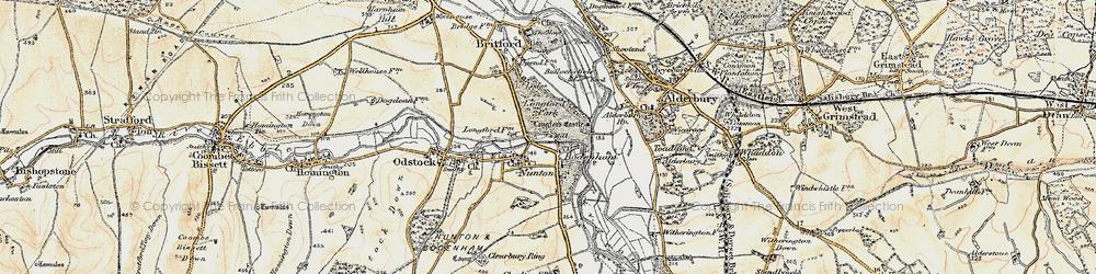 Old map of Bodenham in 1897-1898