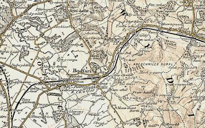 Old map of Bodfari in 1902