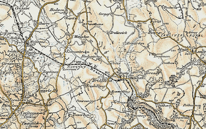Old map of Bodiggo in 1900